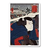 Actor Miyamoto Musashi Japanese Wood-Cut Print (Playing Card Deck - 52 Card Poker Size with Jokers)