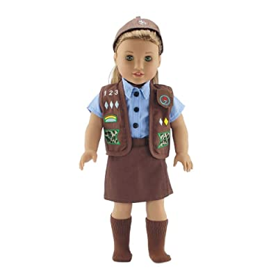 "18 Inch Doll Clothes Like Brownie Girl's Club Outfit | Fits 18"" American Girl Dolls 