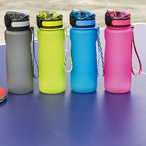 Chiffony Sports Water Bottle-27oz (800ML) Portable BPA-Free Plastic Lightweight Drinking Cup,Flip Top Lid,Eastman Tritan,Leak-Proof(Pink) by Chiffony (Image #5)