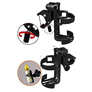 T2C Adjustable Bike MTB Bicycle Water Bottle Drink Cup Beverage Holder Rack Cage Black