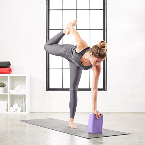 AmazonBasics Yoga Blocks, Set of 2 - Purple by AmazonBasics (Image #3)