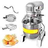 110V 1800W 3 Speed 30Qt 2.4HP Commercial Dough Food Mixer Gear Driven Pizza Bakery