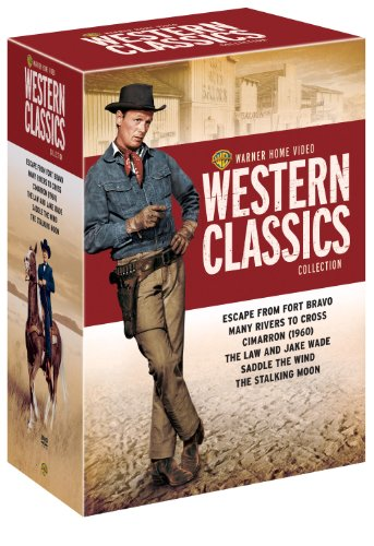 Warner Home Video Western Classics Collection (Escape from Fort Bravo / Many Rivers to Cross / Cimarron 1960 / The Law and Jake Wade / Saddle the Wind / The - Robert To Cross Rivers Taylor Many