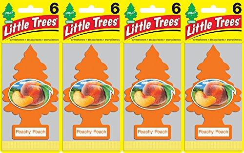 Little Trees Peachy Peach Air Freshener, (Pack of 24)