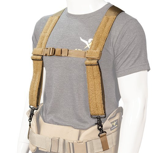 Atlas 46 24/7 Comfort-Tuff Suspenders Heavy Duty Black, One Size Fits Most | Work, Utility, Construction, Contractor, and Tactical