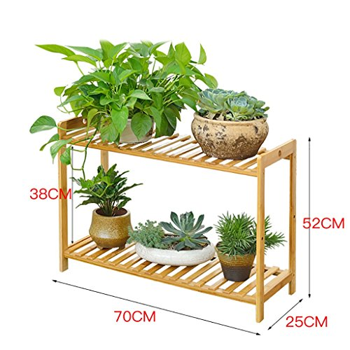 - Antiseptic Wood Flower Stand Wooden Flower Racks/Indoor and Outdoor Plant Racks/Multi-Layer Flower Pots / 2F Ladder Stairway/Floor-Type Flower Display Stand Strong Bearing Capacity (Color : 2)