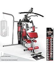 Sportstech Premium 50in1 krachtstation voor EEN allround training   Multifunctionele hometrainer met stepper & Latissimus-stang   HGX fitness homegym van eva materiaal   Robuust voor thuis & boksers -