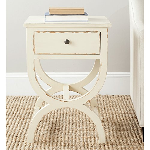 51Wp0cbnsXL - Safavieh American Homes Collection Maxine Vintage Cream Accent Table