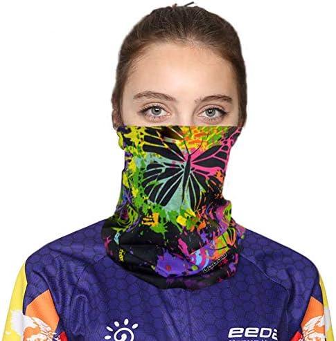 QINJLI マスク、暖かい風に乗って アンチUV吸収剤多機能手首ストラップカチューシャカラーのスカーフアウトドアスポーツサイクリング登山