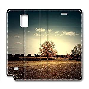 Sunset Personalized Design Leather Samsung Note 4 Case Tree