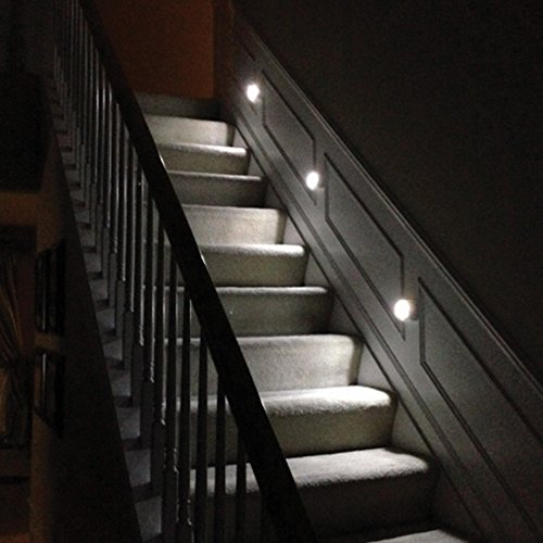 mr beams mb530 wireless battery operated indoor outdoor motion sensing led step stair light. Black Bedroom Furniture Sets. Home Design Ideas
