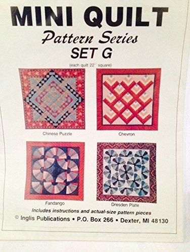 Puzzle Quilt Pattern (Mini Quilt Pattern Series Set G - 22