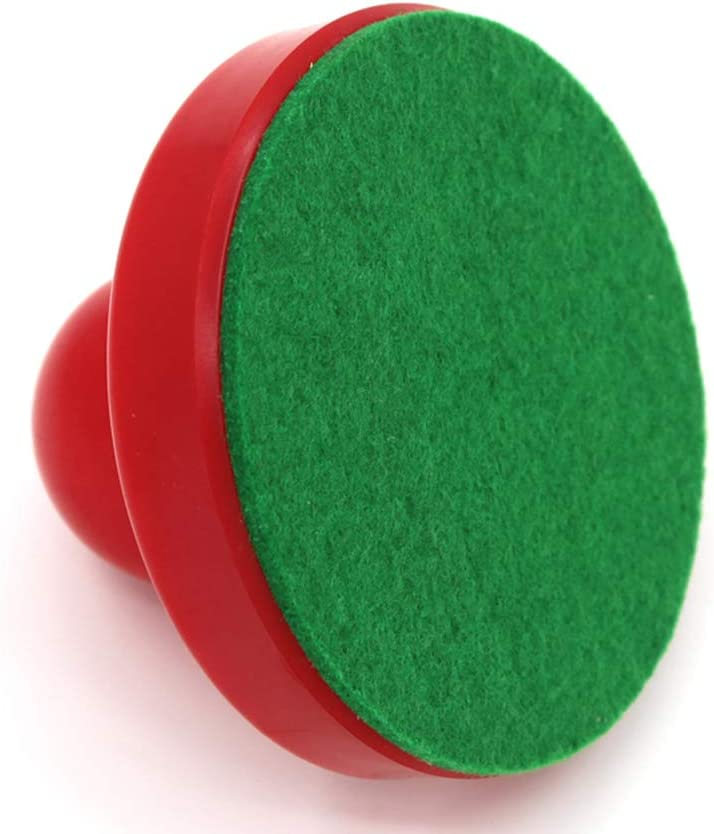 NUOBESTY 2pcs Air Hockey Pushers Pucks Replacement Air Hockey Equipment Accessories For Game Tables 96mm Red