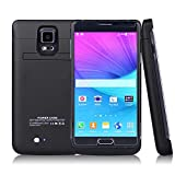 SYR 4800mAh Galaxy Charger Case,External Ultra-thin Power Bank Case Pack Back Battery Charge for Galaxy Note 4 N9100,Black