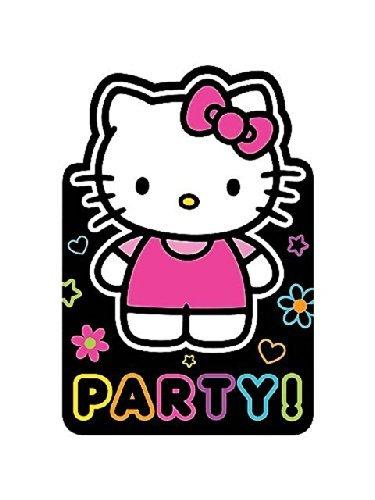 amscan Hello Kitty 'Neon Tween' Invitations w/ Envelopes (8ct) -