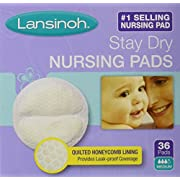 Lansinoh Stay Dry Nursing Pads Medium 36 Each (Pack of 2)