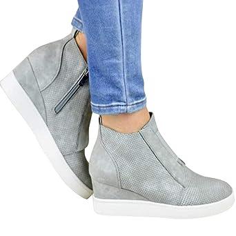 5fe0b92dbf3d2d Damen Stiefeletten Boots Xinantime Damen Stiefel Elegant Wildleder Stiefel  Booties Herbst und Winter Stiefeletten Fersenschuhe Schuhe Mode Schuhe 35-43   ...