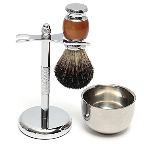 Shaver Kit Pure Wet Shaving Brush with Mug Bowl and Stand Shave Razor - Hardware & Accessories Industrial Hardware - 1 x Shaving Brush
