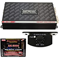 Earthquake Mini D2000 2nd Gen Monoblock 2000W Car Amplifier + 4 Gauge Amp Kit