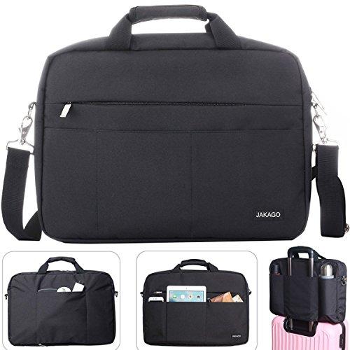 JAKAGO 17 17.3 Inch Laptop bag Travel Briefcase Messenger Shoulder Bag with Handle and Shoulder Strap Multi-function Waterproof Shockproof Carry Case for Laptop/Notebook/Macbook/Ultrabook (Fujitsu Travel Bag)