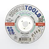 WHITETOOLS Creating professional tools that will simplify your life WT-CM-125 - FAST CHANGE - 5.0 inch by 0.045 inch Metal Cutting Wheel, 5/8-Inch Arbor, 5-Pack $13.75
