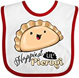 Inktastic Happiest Lil' Pierogi Baby Bib White/Red