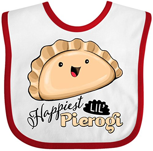 Inktastic - Happiest Lil' Pierogi Baby Bib White/Red 2b82d]()