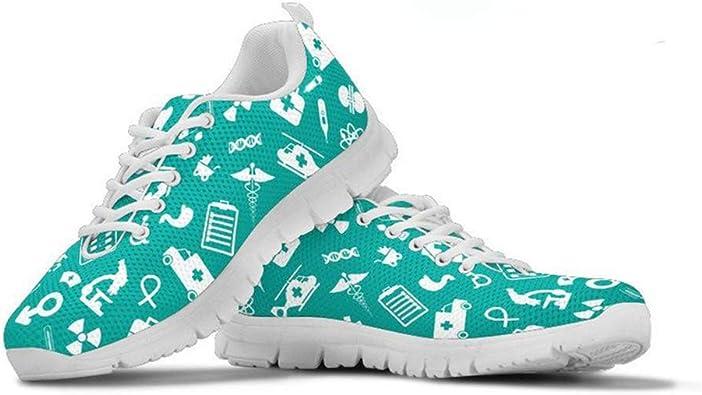 HUGS IDEA - Zapatillas de correr para mujer, diseño de perro salchicha, color Azul, talla 37 EU: Amazon.es: Zapatos y complementos