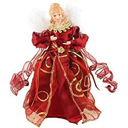 Christmas Tree Topper Tabletop Ornaments, Red