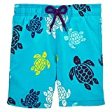 Vilebrequin Tortues Multicolores Swim Shorts - Boys - Azure - 6Yrs