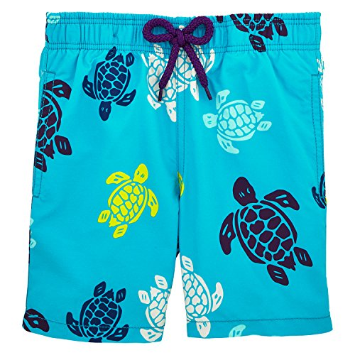 Vilebrequin Tortues Multicolores Swim Shorts - Boys - Azure - 4Yrs by Vilebrequin