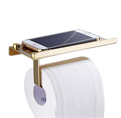 Fyore Toilet Paper Holder Storage SUS304 Stainless Steel Heavy Duty  Drilling Bathroom Tissue Roll Holder With