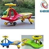 G4RCE KID CHILDREN SWING CAR RIDE ON SWIVEL SCOOTER WIGGLE GYRO TWIST GO BOY GIRL BEST GIFT FOR BIRTHDAY XMAS (Red)
