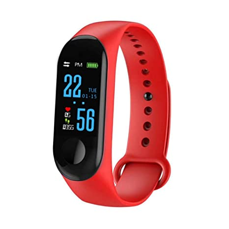 Blue-Yan Fitness Tracker Pantalla a Color M3 Smart Pulsera Banda Pulsómetro Tensiómetro de Fitness
