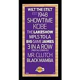 NBA Los Angeles Lakers Framed Subway Sign Wall Art Photograph