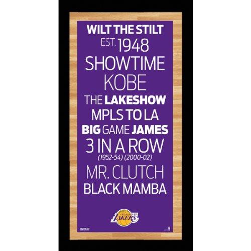 NBA Los Angeles Lakers Framed Subway Sign Wall Art Photo
