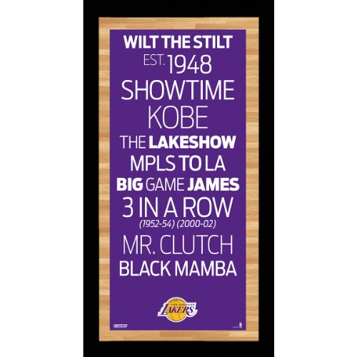 Los Angeles Lakers Framed - NBA Los Angeles Lakers Framed Subway Sign Wall Art Photo