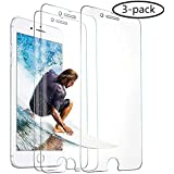 3-Pack Screen Protector for Apple iPhone 8 Plus, iPhone 7 Plus, iPhone 6s Plus and iPhone 6 Plus, Tempered Glass Film, 5.5-Inch