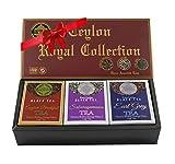 Mlesna Pure Ceylon Fine Black Loose Tea Royal Collection Luxury Gift Pack- 3 Assorted Tea English Breakfast, Ceylon Earl Gray and Sabaragamuwa Black Tea Orange Pekoe Gift Box