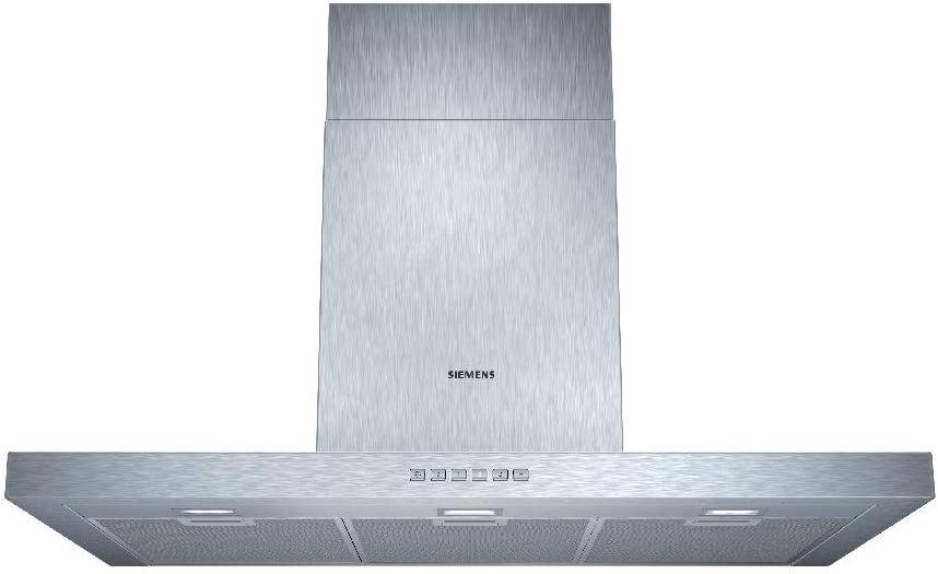 Siemens LC97BC532 iQ300 - Campana extractora decorativa de pared, 90 cm de ancho, 4 potencias de extracción, potencia de extracción máxima 730 m3/h, color acero inoxidable: 301.96: Amazon.es: Grandes electrodomésticos