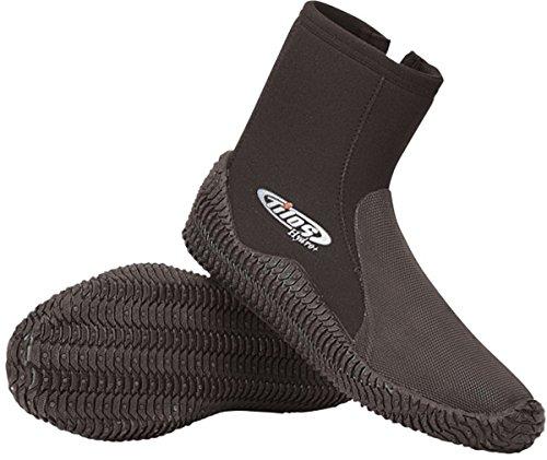 Scuba Rubber Toe Cap Hydro Side Zip Boot, 7mm Tilos Titanium Booties w/ Zipper & Puncture Resistance, Scuba Boots, Diving Boots, Dive Boots, Dive Booties, Men's 12, Women's 13