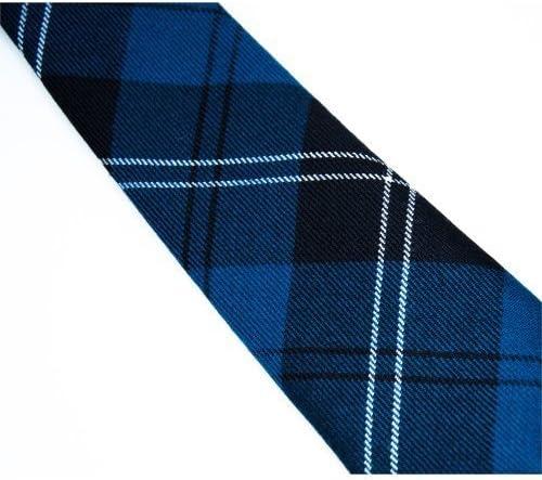 "/< Burns Night />=Blue//White TARTAN Necktie /& Hanky Set-TIES-3.5/""= 9cm Width-Free"