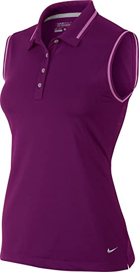 Nike Key Sleeveless Mujer Polo Grape morado L: Amazon.es: Ropa y ...