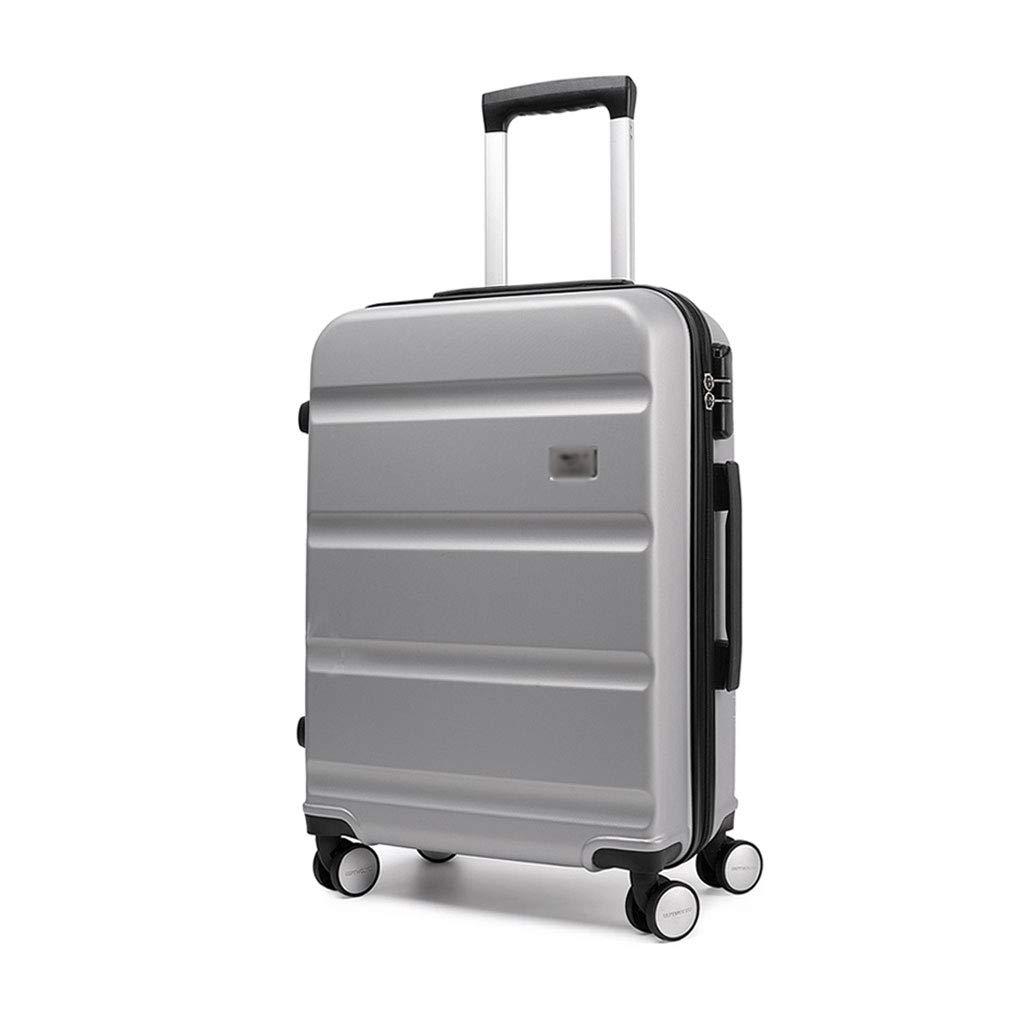 スーツケース超軽量ABSハードシェル旅行は4つのホイール、航空&詳細情報のために承認されたハードシェルトロリーサイズのアドオンキャビンハンド荷物スーツケースキャリー B07P7M4Z23 C 47.5cm*24cm*67.5cm