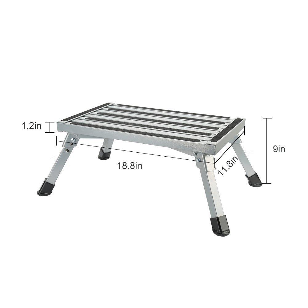 Step Stool Folding Aluminum Rv Step Platform With Anti