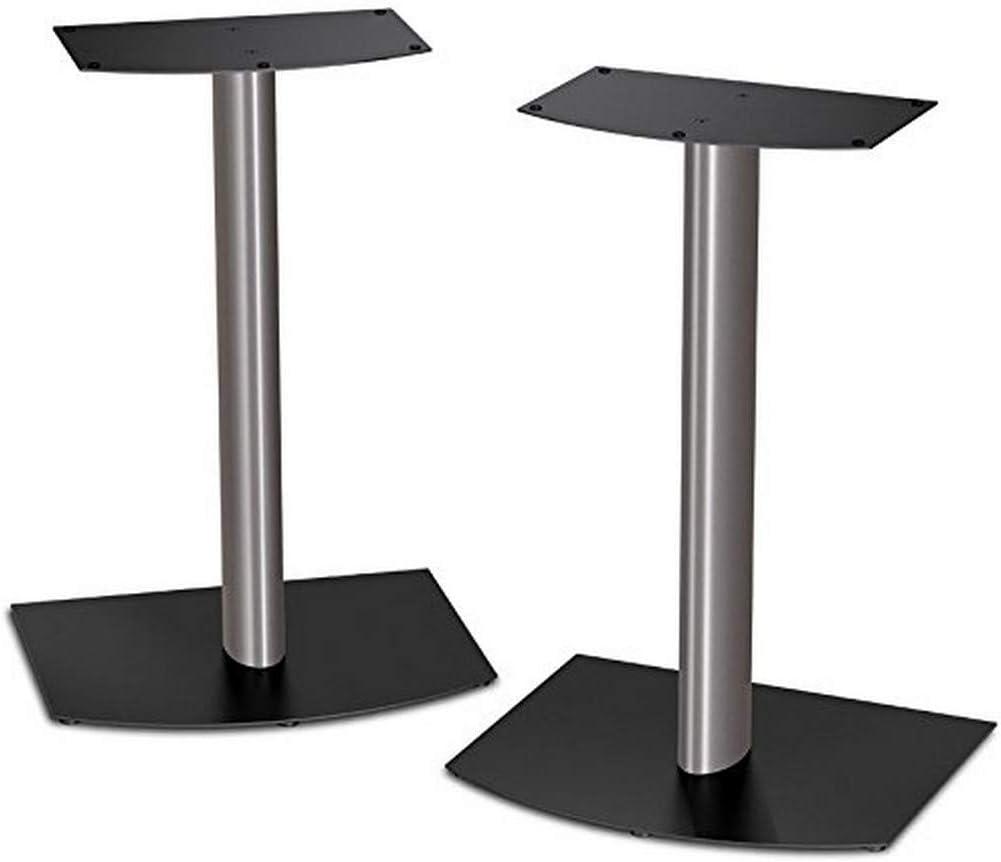 Bose FS-1 Bookshelf Speaker Floor Stands (pair) - Black and Silver