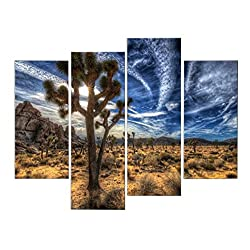 Very artistic Giclee Artwork Joshua Trees On Desert Grass Wall Art Painting The Picture Print On Canvas Landscape Pictures For Home Decor Decoration