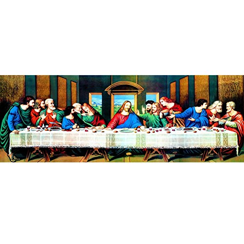 The Last Supper Diamond Painting - PigBoss 5D DIY Diamond Painting by Numbers Rhinestone Religion Painting Home Decor Gift (31.5 X 11.8 inches)