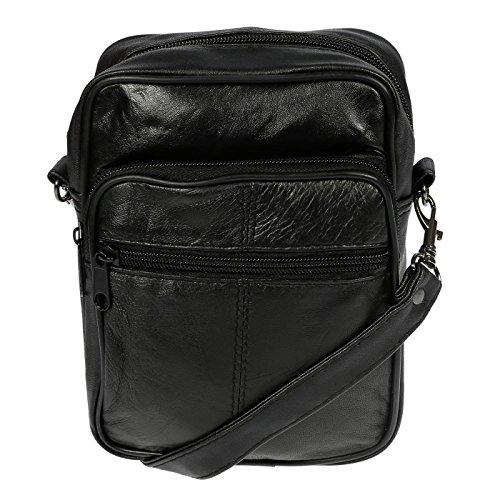 Christian Wippermann® - Bolso al hombro para hombre negro Schwarz Klein 26 x 20 x 9 cm Schwarz Klein