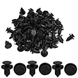 uxcell® Retainer Clips Fasteners Bumper Fender 9mm Hole 50 Pcs